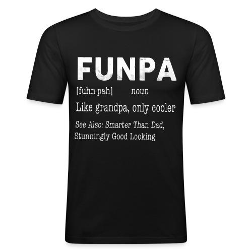 Funpa like grandpa only cooler - Men's Slim Fit T-Shirt