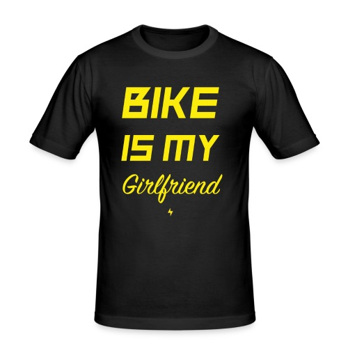 BIKE IS MY GIRLFRIEND - Männer Slim Fit T-Shirt