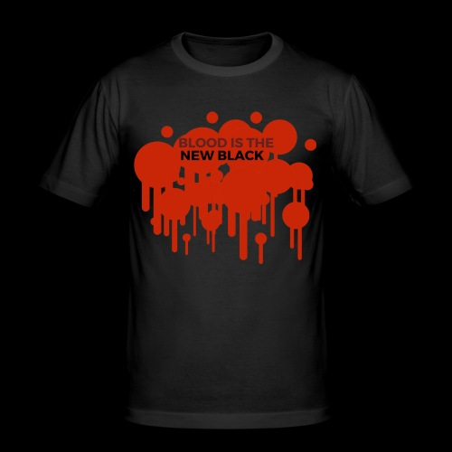 Blood is the New Black - Männer Slim Fit T-Shirt