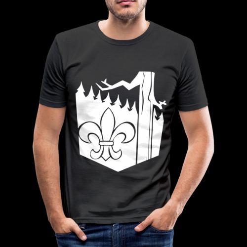 lekologo - Miesten tyköistuva t-paita