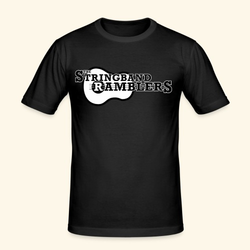 The Stringband RamblersLogo Black White - Männer Slim Fit T-Shirt