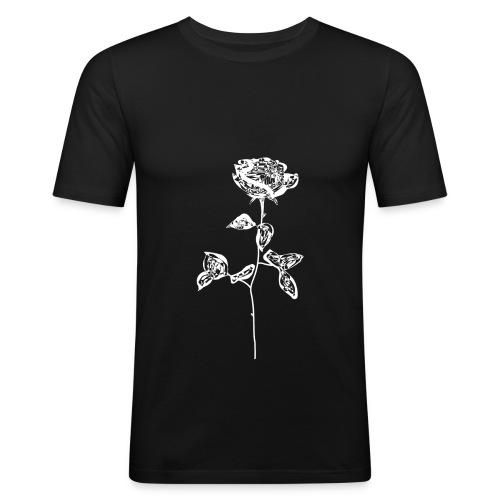 OG white rose. - Men's Slim Fit T-Shirt