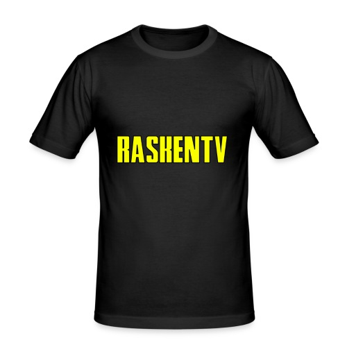 RaskenTv Yellow - Slim Fit T-shirt herr