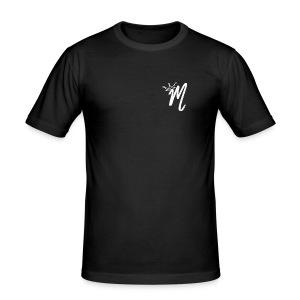 ItzManzey (BLACK TOPS AND HOODIES) - Men's Slim Fit T-Shirt