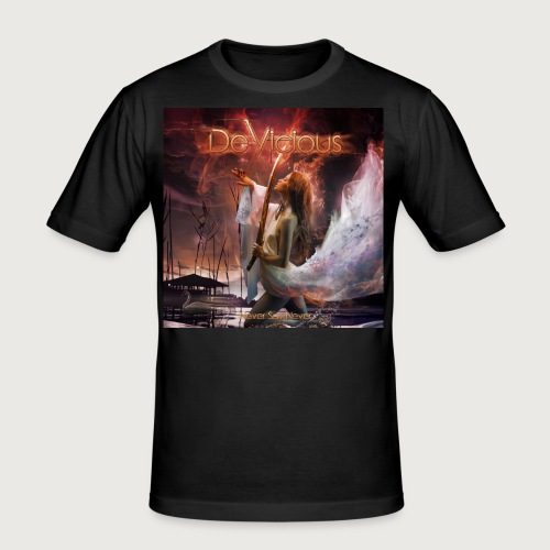 DeVicious Never Say Never CD Cover - Männer Slim Fit T-Shirt