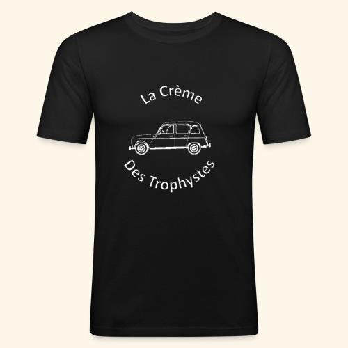 La Crème Des Trophystes - Modèle Berline Blanc - T-shirt près du corps Homme