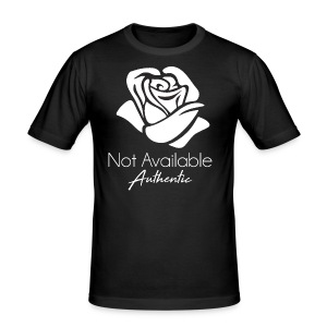 Not Available Rose Blanche Authentic - Tee shirt près du corps Homme