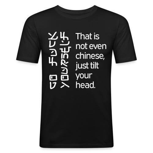 Just tilt your head - Männer Slim Fit T-Shirt