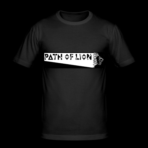 Path_of_Lion - Männer Slim Fit T-Shirt