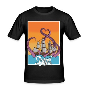 Ship 'n' tentacles - Slim Fit T-skjorte for menn