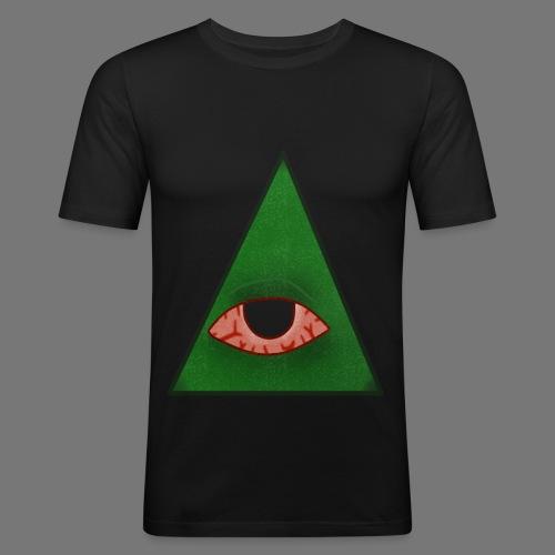 illuminati eye - Camiseta ajustada hombre
