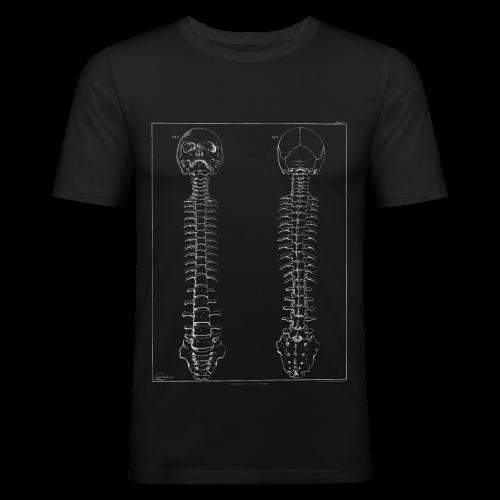 Skeleton white - Men's Slim Fit T-Shirt