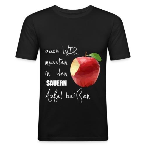 Auch wir mussten in den sauern Apfel beissen - Männer Slim Fit T-Shirt