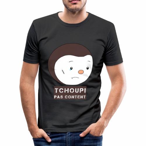 Tchoupi pas content ! - T-shirt près du corps Homme