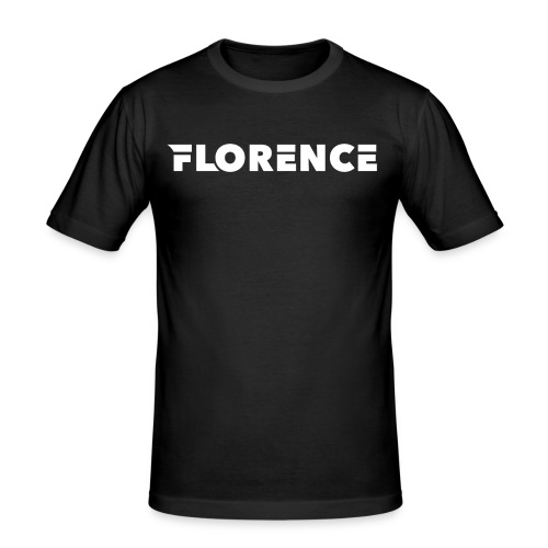 Florence black/white Collection - Männer Slim Fit T-Shirt