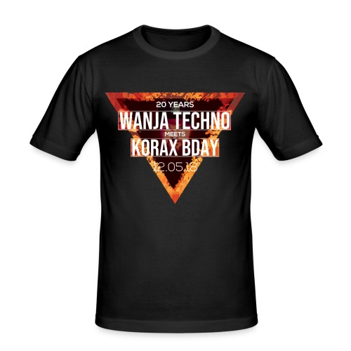 Wanja & Korax BDay Shirt - Männer Slim Fit T-Shirt