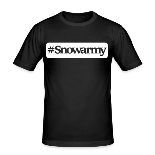 #snowarmy white/black - Männer Slim Fit T-Shirt