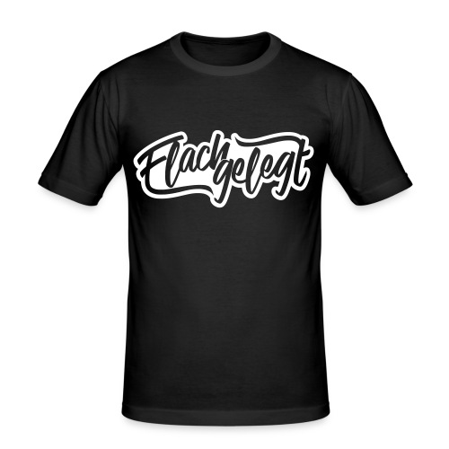 Flachgelegt Logo - Männer Slim Fit T-Shirt