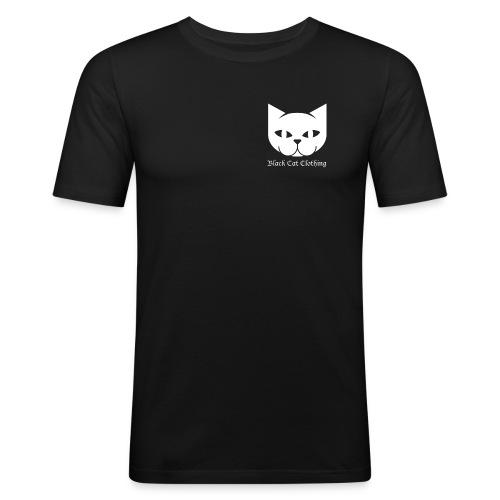 Black Cat Logo Shirt - Men's Slim Fit T-Shirt