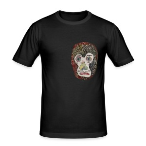 Francis Bowie Monkey - Herre Slim Fit T-Shirt