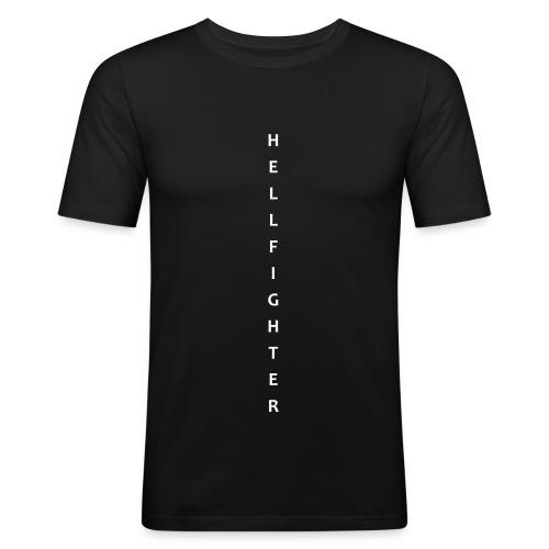 HELLFIGHTER white vertikal - Männer Slim Fit T-Shirt