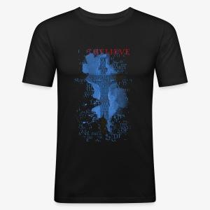 I believe / wierzę - Obcisła koszulka męska
