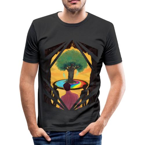 Traveller at the Tree of Creativity - Men's Slim Fit T-Shirt
