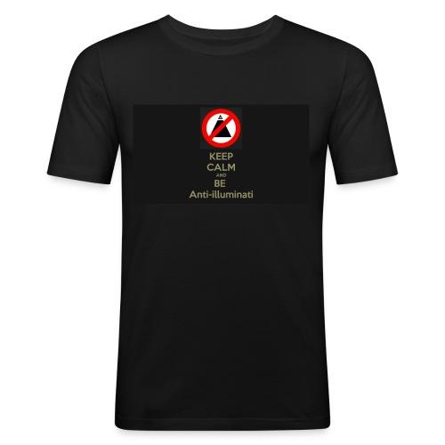 Keep calm and be anti illuminati - Men's Slim Fit T-Shirt