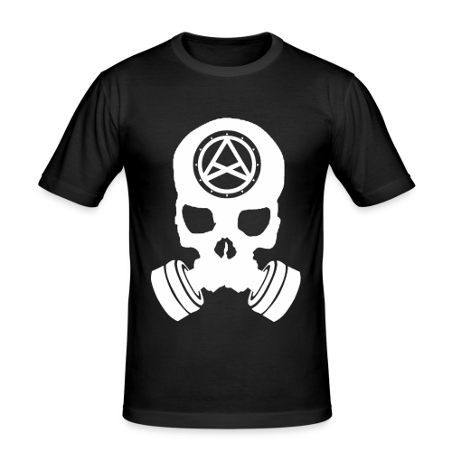 Nether Skull - Maglietta aderente da uomo
