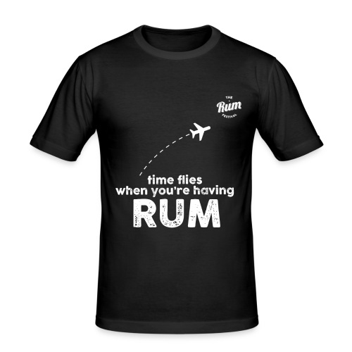 TIME FLIES WHEN YOU'RE HAVING RUM - Men's Slim Fit T-Shirt