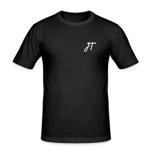 Embroided JT (Josh Trends) T-Shirt White - Men's Slim Fit T-Shirt