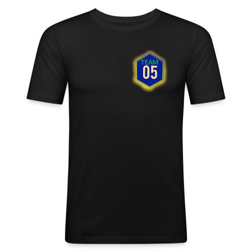 Gult lysene team05 logo - Herre Slim Fit T-Shirt