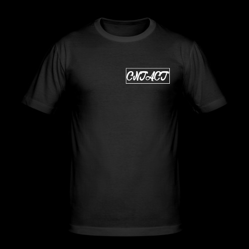 CNTACT White - Männer Slim Fit T-Shirt