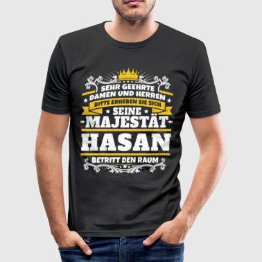 Seine Majestät Hasan - Männer Slim Fit T-Shirt