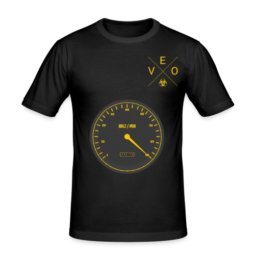 999 Holz Min - Männer Slim Fit T-Shirt
