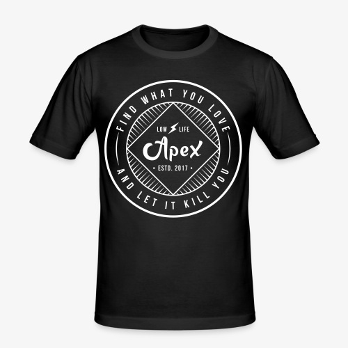 apex logo - Männer Slim Fit T-Shirt