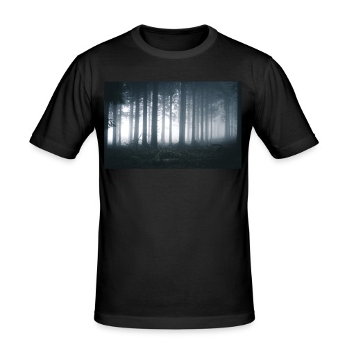 Moody Forest - Männer Slim Fit T-Shirt