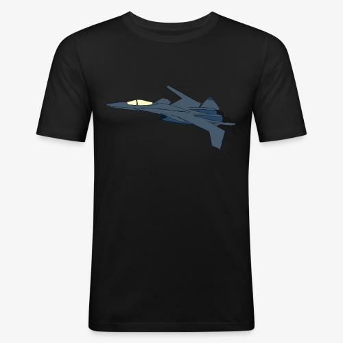 X-02 Blue (flat) - Männer Slim Fit T-Shirt