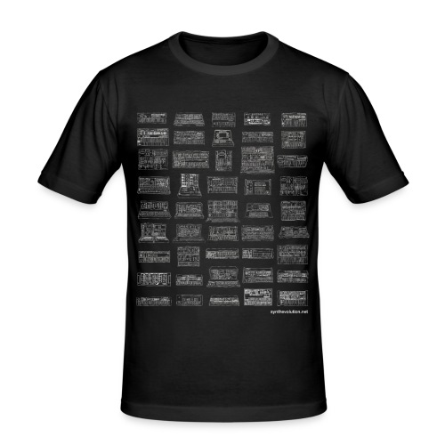 Synth Evolution T-shirt - Black - Men's Slim Fit T-Shirt