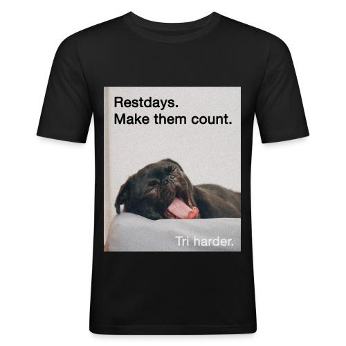 Restday Triathlon Shirt - Männer Slim Fit T-Shirt