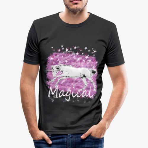 Unicorn Birthday Gift T Shirt for magical girls! - Men's Slim Fit T-Shirt