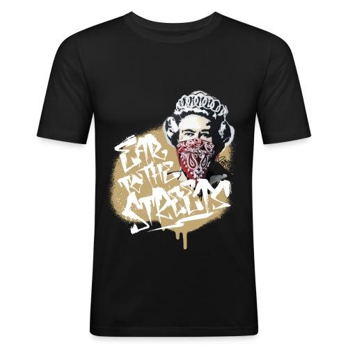 EAR TO THE STREETS BLACK - Männer Slim Fit T-Shirt