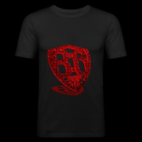BRAVOSIX 3D Redpoint - Männer Slim Fit T-Shirt