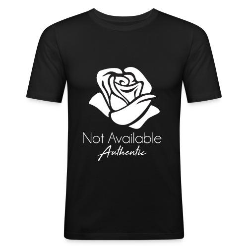 Not Available Rose Blanche Authentic - T-shirt près du corps Homme