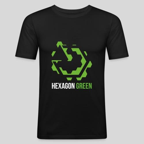 Hexagon Green - Männer Slim Fit T-Shirt