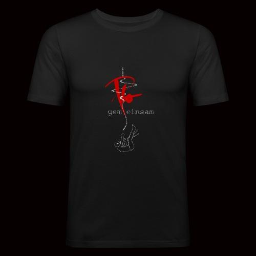 Plo - Gemeinsam einsam (Black Edition) - Männer Slim Fit T-Shirt