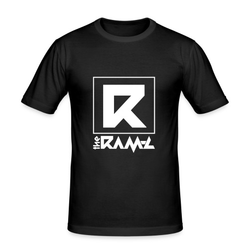 Dj The Ram C Official Logo W - Männer Slim Fit T-Shirt