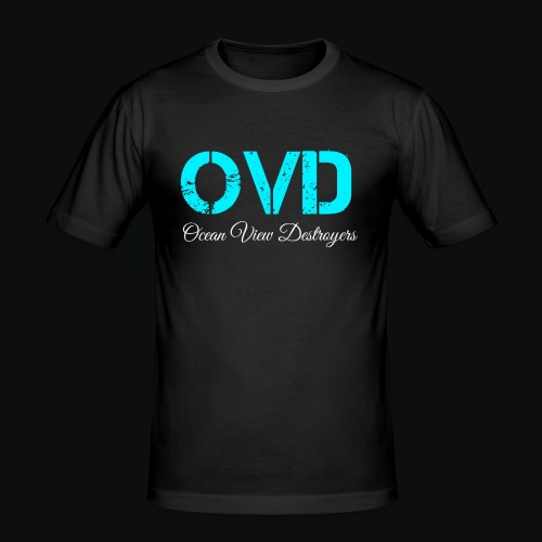 ovd blue text - Men's Slim Fit T-Shirt