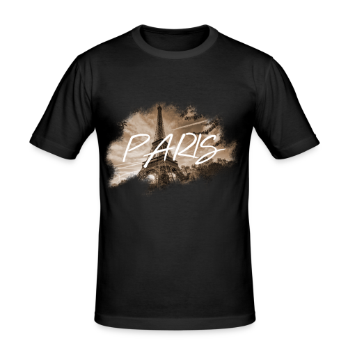 PARIS   MKEY - Männer Slim Fit T-Shirt