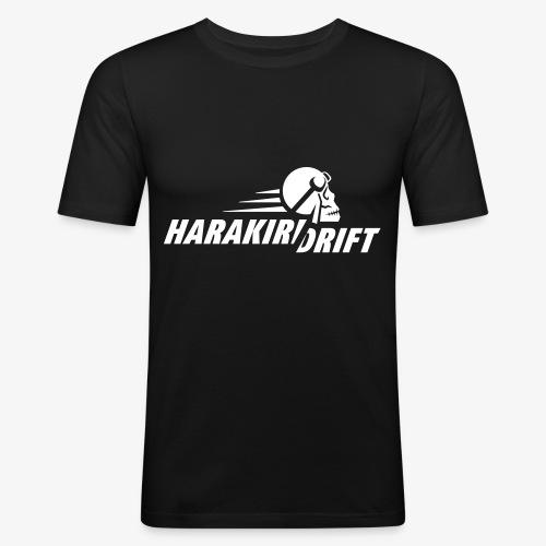 Harakiri Drift Logo Weiss - Männer Slim Fit T-Shirt